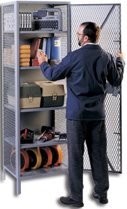 See Through Steel Storage Cabinets