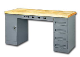 Tennsco Electronics Workbench With Modular Drawers