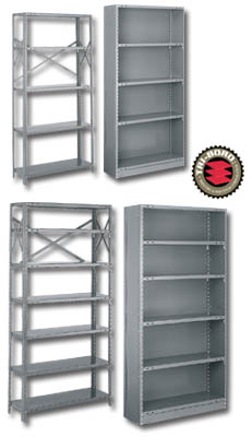 industrial shelving with clips