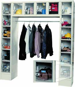 16 person see through locker