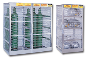 Deluxe Aluminum Cylinder Storage Cabinets