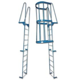 Heavy Duty Fixed Steel Ladders   Walk Thru Style