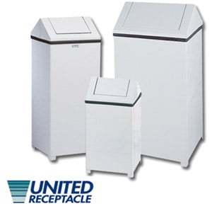 Swingtop Metal Waste Containers