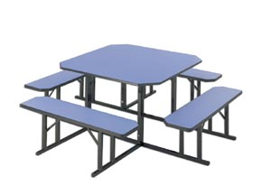 Square And Round Lunchroom Tables