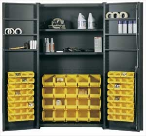 Bin And Shelf Storage Cabinet