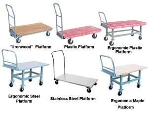 Heavy Duty Plastic Wood Or Steel Platform Trucks