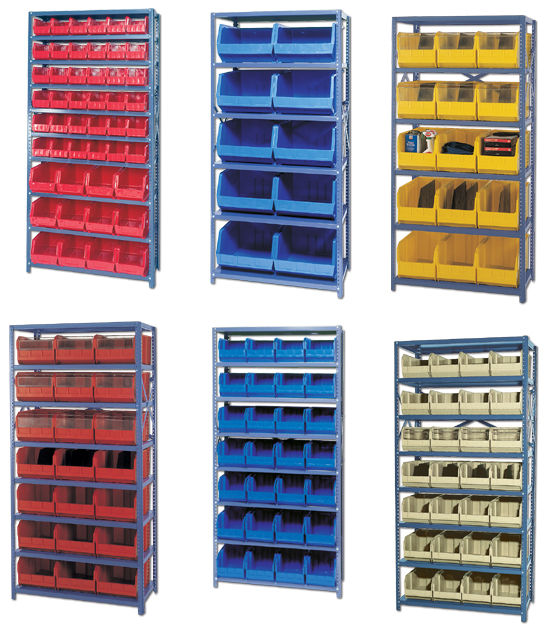 Giant Open Hopper Bin Storage System