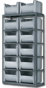 Hopper Bin Storage Shelving