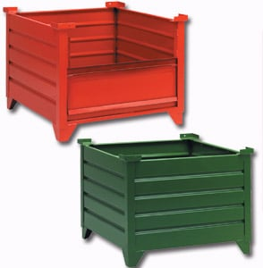 Delightful Steel Corrugated Containers. Metal Bins