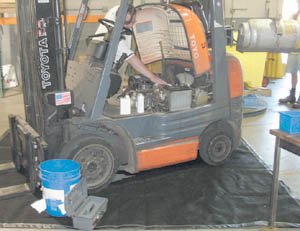 Blanket To Be Used Under Power Equipment When Fixing