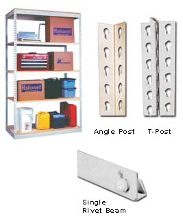 Single Rivet Shelving Economy Valumaster Brand