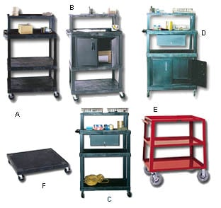 Multishelf Steel Carts With Doors And Without Doors