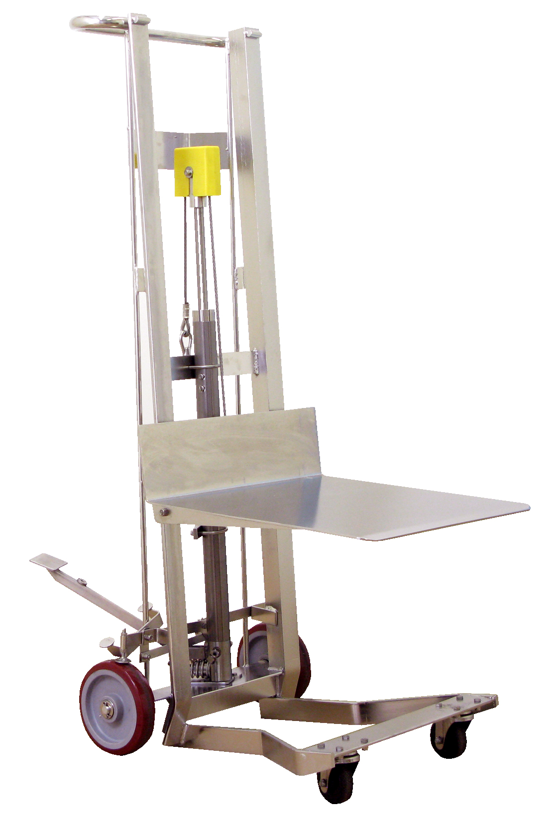 Hydraulic Material Lift : Wesco stainless steel hydraulic pedalift a plus warehouse