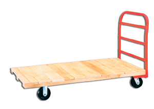 Economy Heavy Duty Tongue And Groove Hardwood Deck Platform Trucks