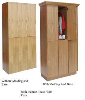 Double Tier Assembled Wood Club Lockers