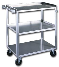 Three Shelf Stainless Steel Shelf Truck
