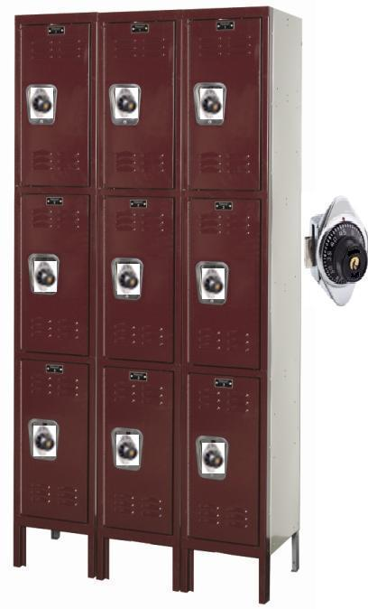 Triple Tier Unit With Built In Combination Locks