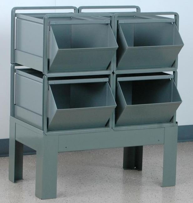 Metal Bins Metal Stacking Bins Metal Storage Bins