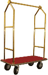 Garment and Luggage Cart With Titanium Gold Plated Tubing