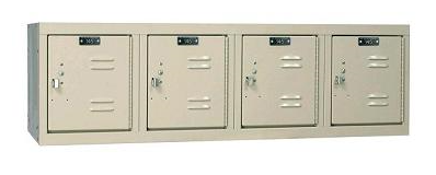 4 wide wall mounted locker tan