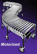 Extra Heavy Duty Power Expandable Roller Conveyor