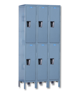 Hallowell Silent Office Double Tier Lockers