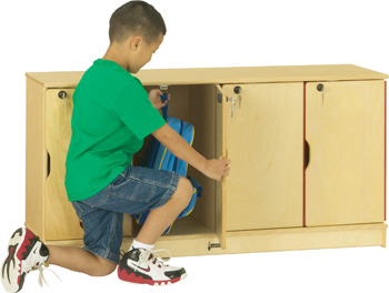 Four Opening Wood Mini Lockers