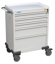 Standard Five Drawer Anesthesia Cart
