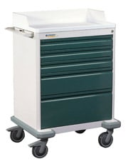 Deluxe Five Drawer Anesthesia Cart