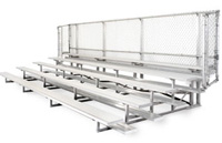 Five Row Aluminum Bleachers Without Aisle