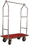 Garment and Luggage Cart With Stainless Steel Tubing