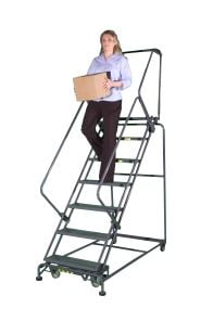 Stairway Slope Medium Duty Rolling Ladder
