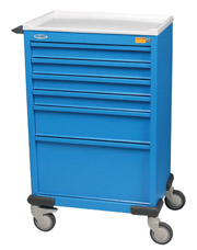 Standard Six Drawer Emergency Cart