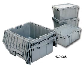 Akro Shipping Bin With Hinged Lids