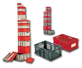 Closed Mesh Stacking Containers