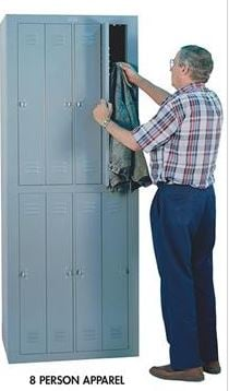 8 person apparel locker