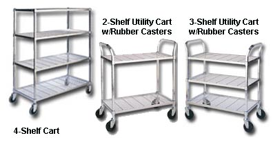 Deluxe Wire Shelving Carts