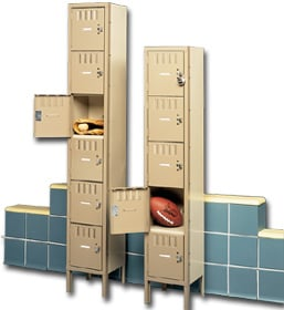 Single Tier metal lockers