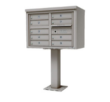 9 door heavy duty mailbox