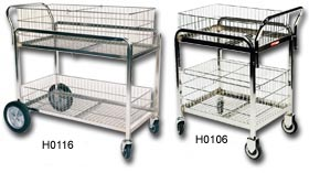 Chrome Plated Mail Cart
