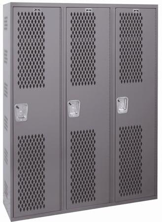 all welded single tier lockers