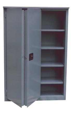 Fire Resistant Double Walled Self Closing Bi Folding Storage Cabinets