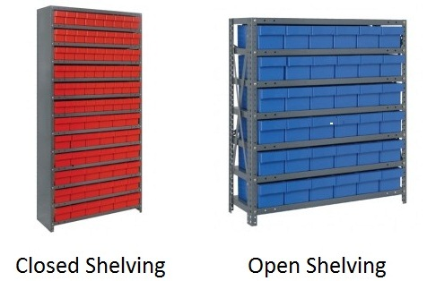 Industrial Shelving With Euro Drawers