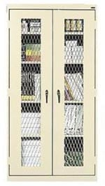 Economy Storage Cabinets With Expanded Metal Doors