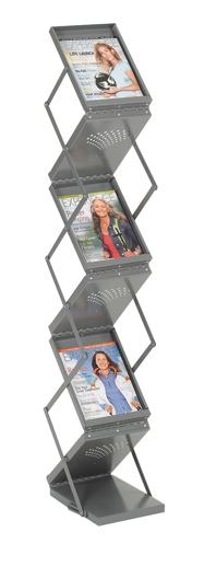 Folding display rack