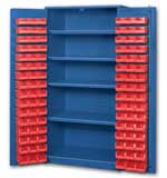 Big Blue Bin Cabinets With Door Mounted Bins
