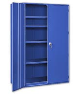 Big Blue Heavy Duty Storage Cabinets