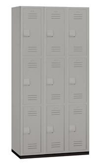 HEAVY DUTY TRIPLE TIER PLASTIC LOCKERS