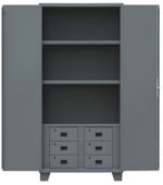 All Welded 14 Gauge Storage Cabinets With Drawers