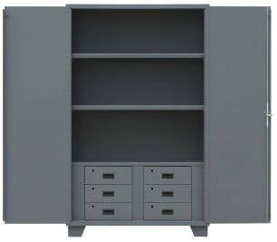 All Welded 14 Gauge Cabinets With Drawers